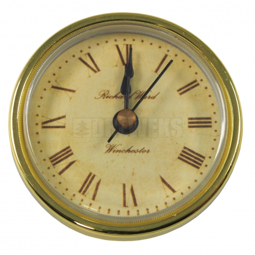 Pushed clock mechanism - gold
