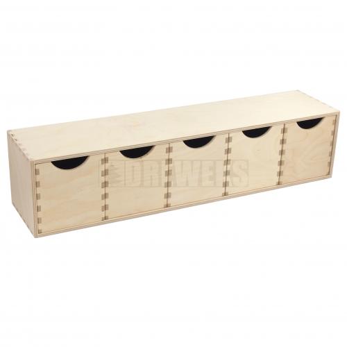 Regał płaski- 4 szufladki