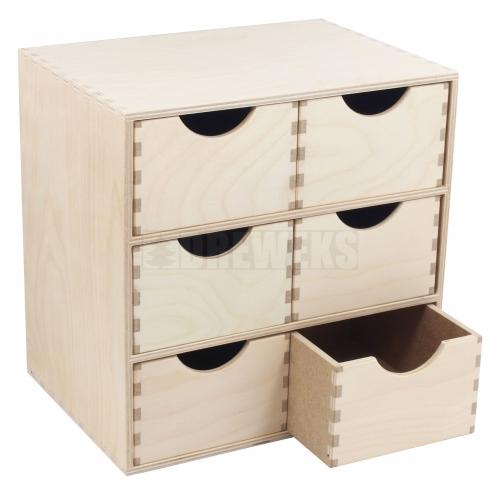 Regał wysoki - 2 szufladki