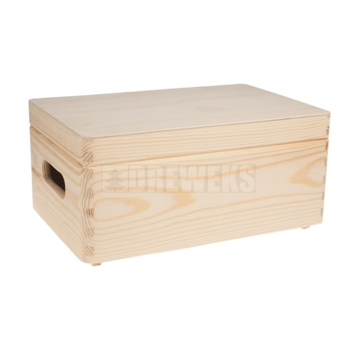 Storage box with lid and handles - small