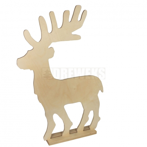 Big reindeer - 70 cm on a base