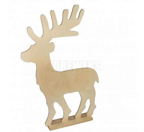 Big reindeer - 70 cm on a base