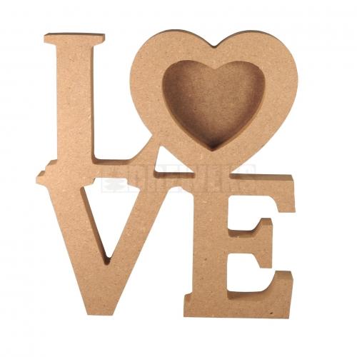 Ramka LOVE z serduszkami