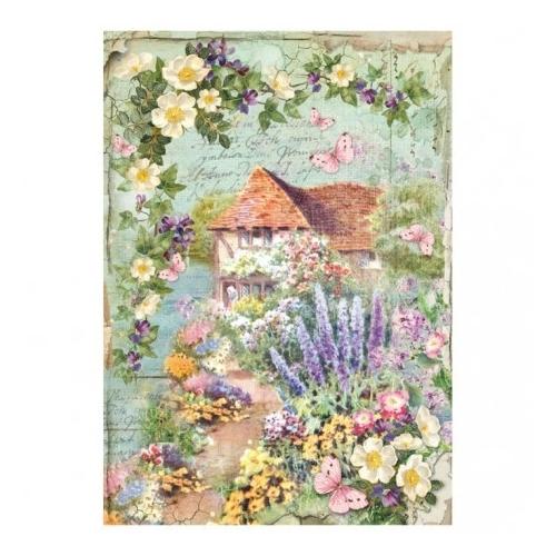 Serwetka ryżowa A4 - kwiaty