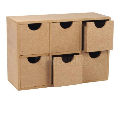 Regał wysoki - 6 szufladek