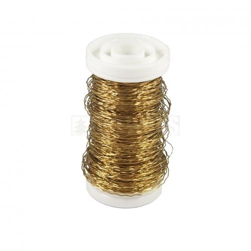 Drucik złoty karbowany