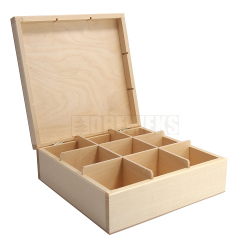 Tea box - 9 compartments