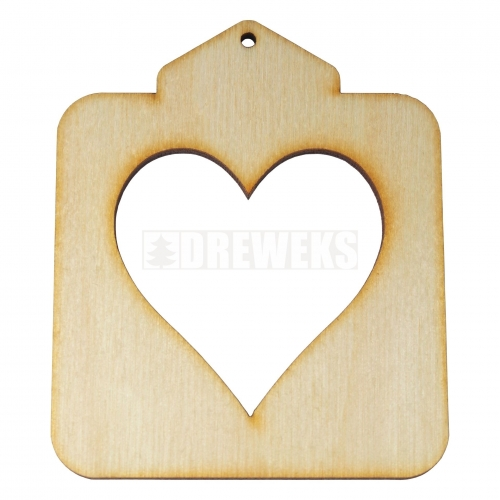 Plywood topper with heart