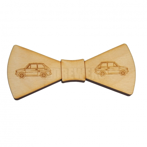 Wooden bow tie heart's ver 4