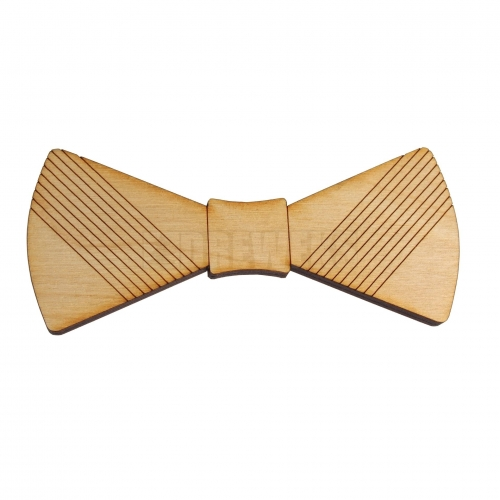 Wooden bow tie heart's ver 3