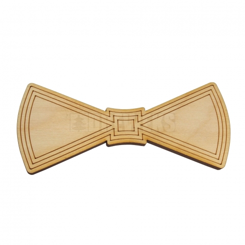 Wooden bow tie heart's ver 2