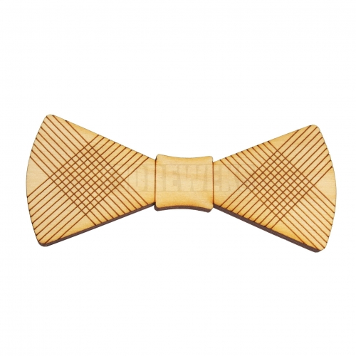 Wooden bow tie heart's