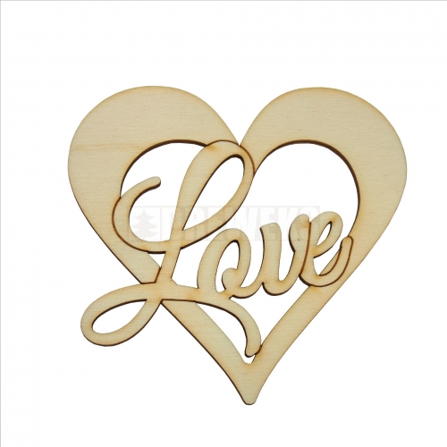 Heart cut-out 90mm - LOVE