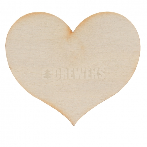 Heart cut-out 40mm - plywood/ with hole