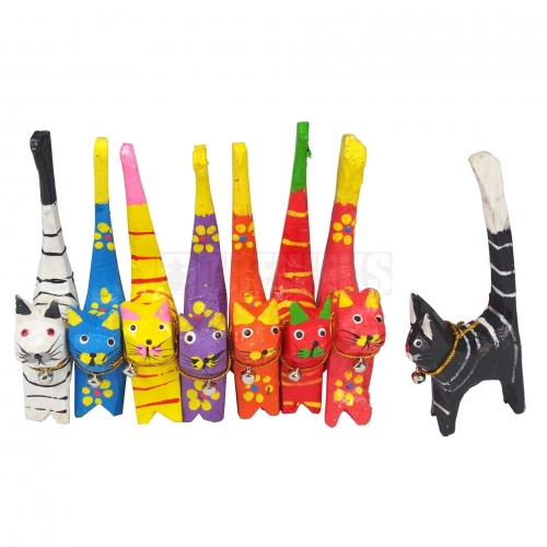 Wooden Cats 4 pcs.