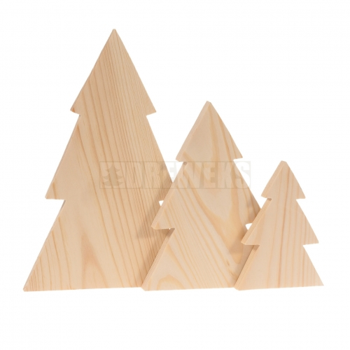 Christmas trees - solid/ set of 3 pcs