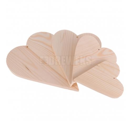 Serca drewniane - komplet