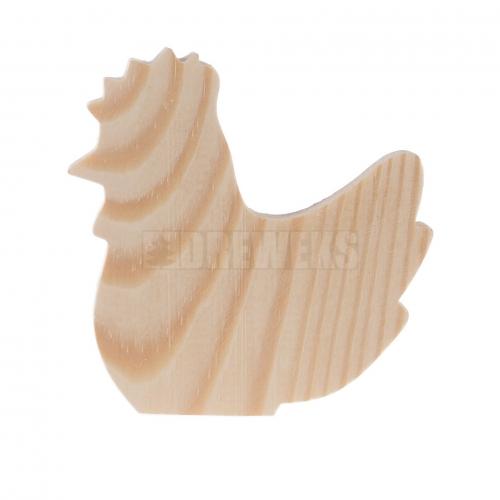 Drewniana kura na piku