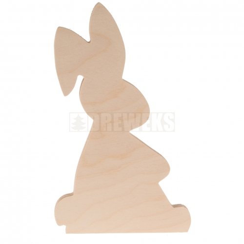 Standing Easter bunny - medium - plywood
