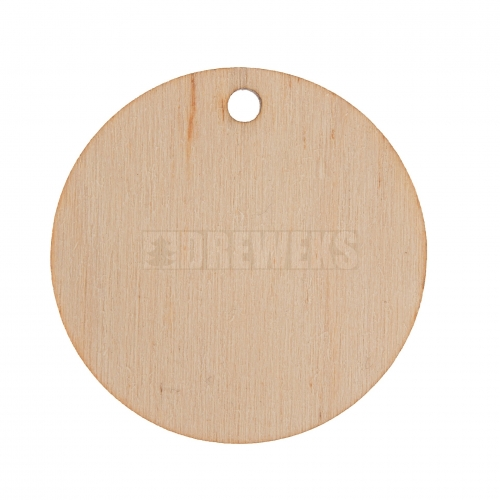 Round earring ?35 plywood