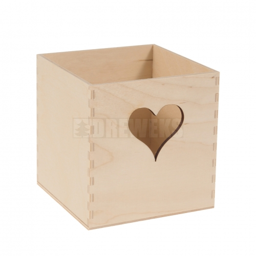 Container with heart - cube