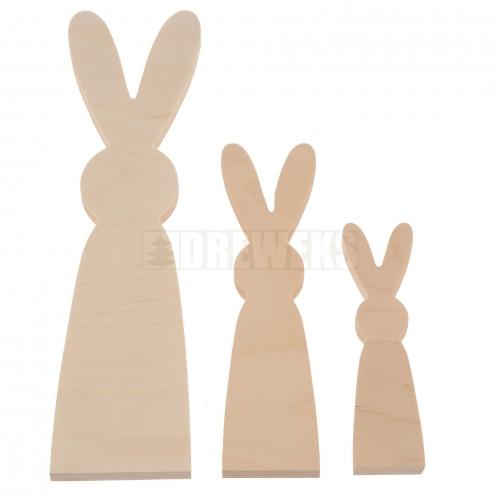 Set of 3 Rabbit / hare