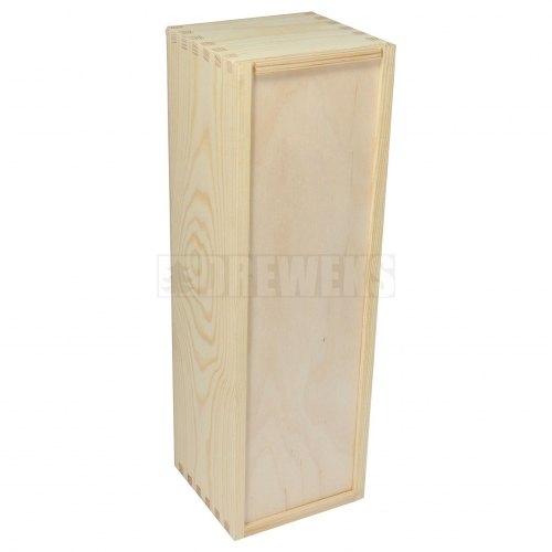 Wine box with sliding lid - 1 wine