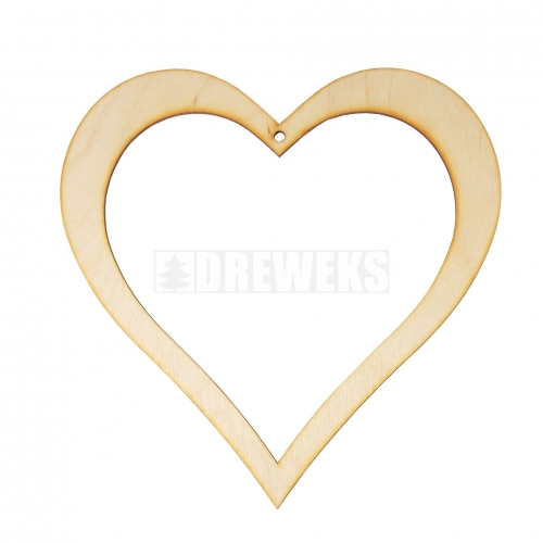 Heart cut-out / tag- plywood