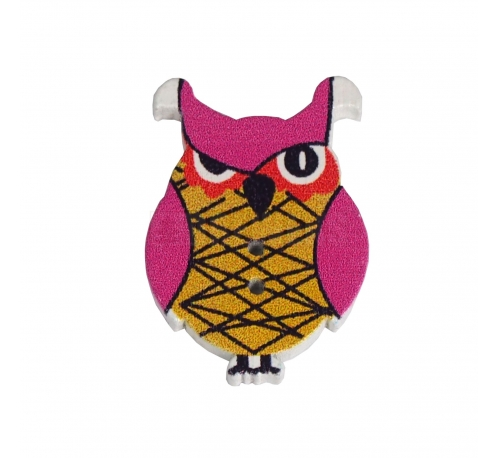 Owl shaped button