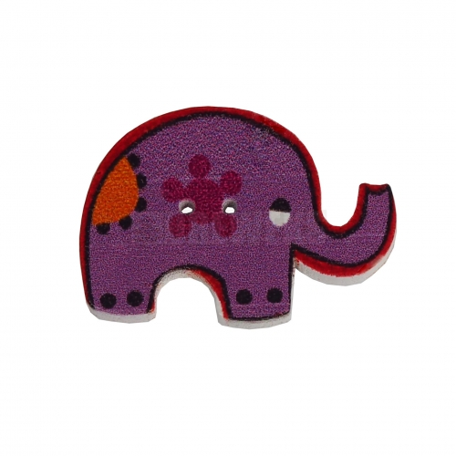 Elephant shaped button
