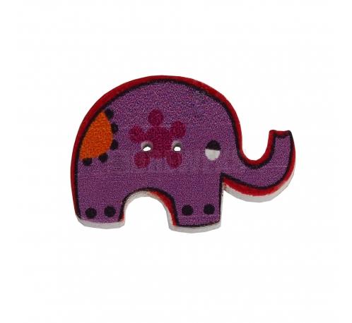 Elephant shaped button
