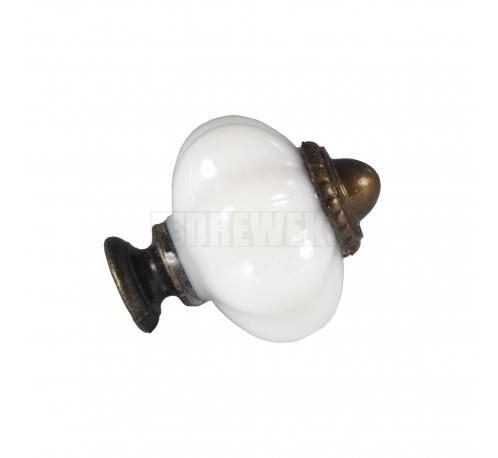Handle, white knob
