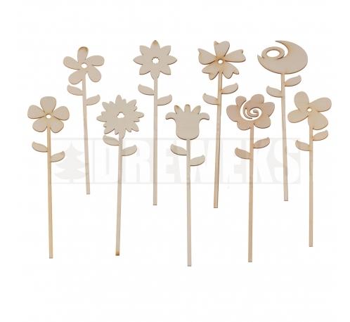 Flowers - set 9 pcs