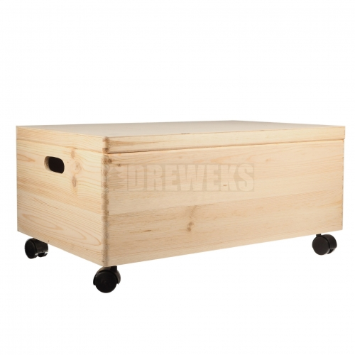 Storage box on wheels - small