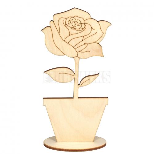 Kwiat w doniczce na podstawce mały - róża