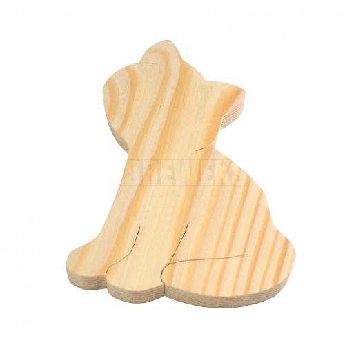 Wooden cat 10cm