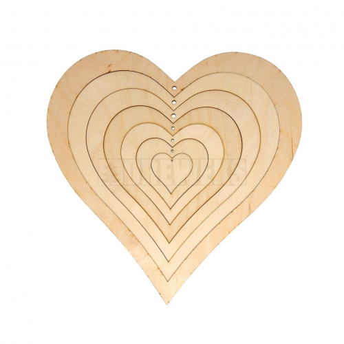 Hearts - plywood/ 7in1