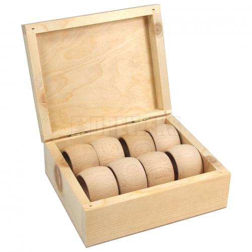 Pudełko + 8 obrączek