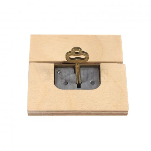 Zamek do kasetek z kluczykiem