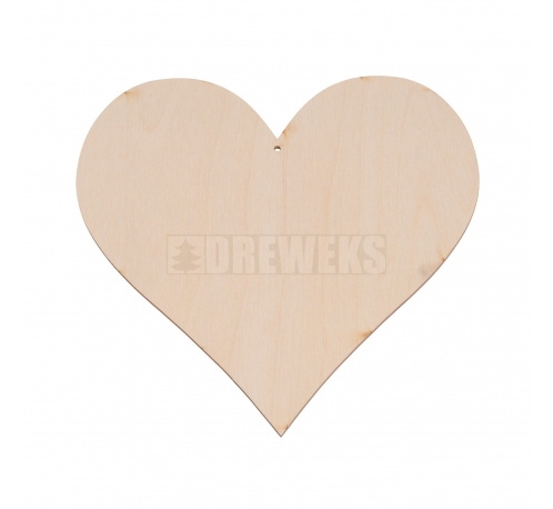 Heart cut-out 170mm - plywood