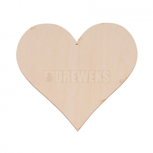 Heart cut-out 200mm - plywood