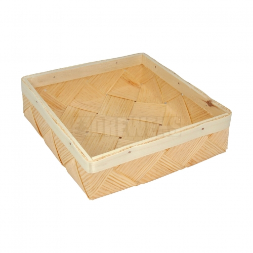 Wooden basket - square