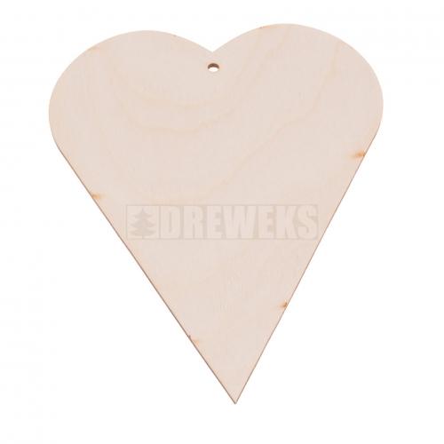Serce sklejka H13,5cm