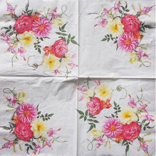 Napkin - flowers