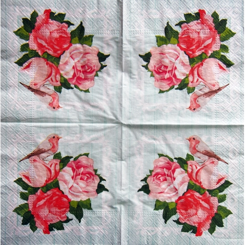 Napkin - pink flowers