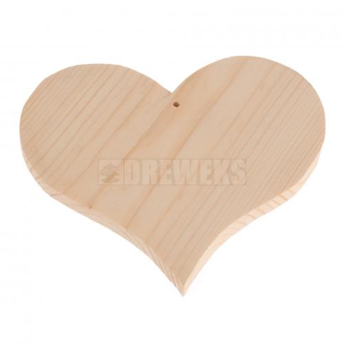 Serce drewniane 9cm