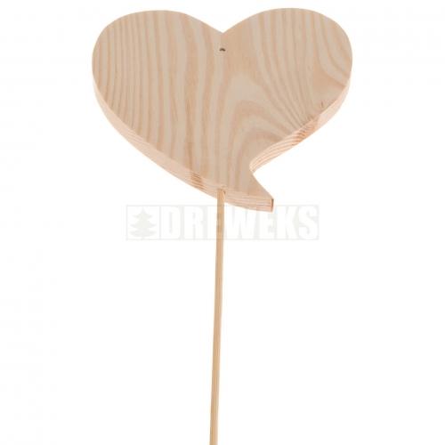 Serce zakręcone 7cm z pikiem