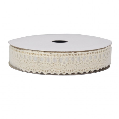 White decorative fabric tape
