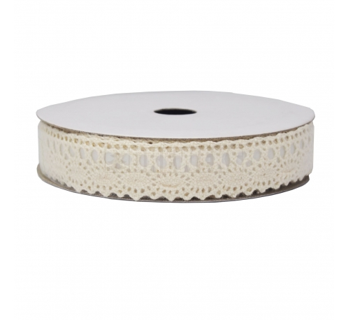 White decorative fabric tape