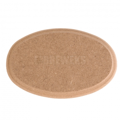 Big milled oval board - MDF material